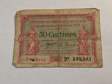 Billet France 50 Centimes Chambre de commerce de Dijon 1919 (19-23)