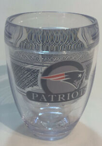 NFL New England Patriots TERVISVHard Plastic Stemless Wine Glass NEW