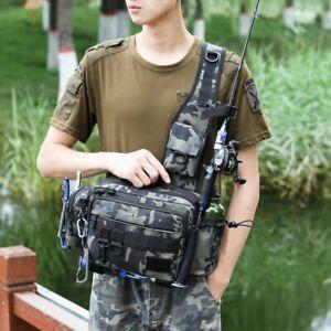 Multifunctional Fishing Tackle Bags Single Shoulder Crossbody Bag Waist Pack