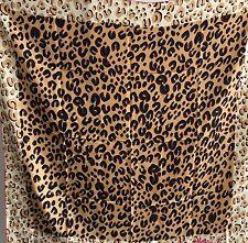 Super Large Square Silk Twill Scarf -- Leopard Print 140cm X 140cm
