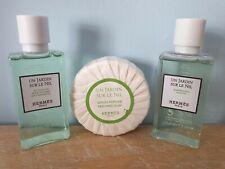 Hermes PARÍS Un Jardín Sur Le Nil Travel Set 40ml New soap shampoo shower gel