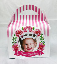 Photo Princess Children's Personalised Party Boxes Favour 1ST CLASS POST