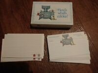 Vintage Recipe Cards Current 25 Cards Here's What's Cookin' Country Cat & Stove