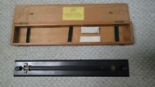 """Antique Cased Brass Rolling Parallel Ruler 18"""" by W F Stanley"""