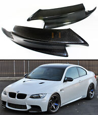 REAL CARBON FIBER FRONT BUMPER LIP SPLITTERS SPOILER FOR 08-2013 BMW E92 E93 M3