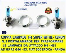 Covertitore  Adattatore + Lampade per FIAT PANDA 141 da H4 -HS1 ad attacco H5 R2