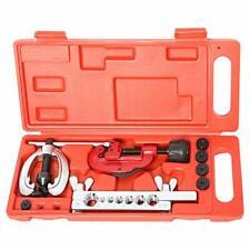 7 Dies Double Flaring Tool Kit Tubing Bender & Pipe Cutter Brake Line Copper US