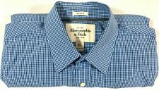 Abercrombie and Fitch Mens Long Sleeve Button Up Blue Muscle Shirt Size: XL