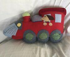 Pottery Barn Kids Train Junction Dog Pillows Decor EUC