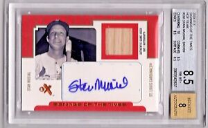2004 EX Stan Musial Signing of the Times Bat AUTO Relic /69  BGS 8.5  Nice!