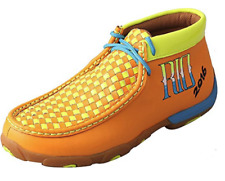 8d6e040a352 Twisted X Ladies WDM0044 Orange Yellow RIO 2016 Driving Moc Shoes - New in  Box