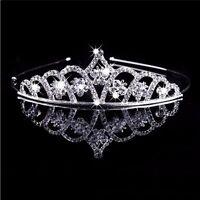 Wedding Crystal Tiara Crown Prom Pageant Princess Crown Bridal Veil Headband