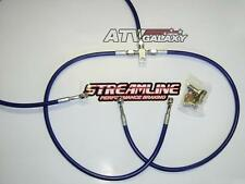 "STREAMLINE +2"" FRONT BRAKE LINES LINE KIT ATV BLUE YAMAHA RAPTOR 660 700 2001+"