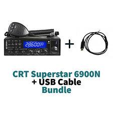 Superstar CRT ss 6900 n V6 CB radio 10M 11M SSB UK40 + USB Cable Bundle