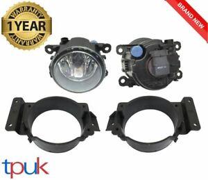 PAIR OF FRONT FOG LIGHT LAMP BRACKET AND FOG LAMPS FORD TRANSIT MK7 2006-2014