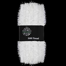 Christmas Tree 50ft x 3cm Tinsel GREAT VALUE - White