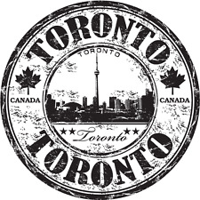 "Toronto City Canada Travel Grunge Stamp Car Bumper Sticker Decal 5"" x 5"""