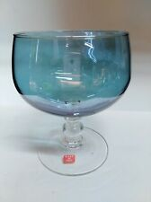 Luminarc Italy iridescent pink and blue his and hers wine glasses pair