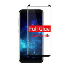 Full Glue Curved Samsung S8 100 Real Tempered Glass Screen Protector - Black