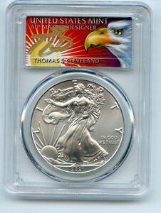 2021 $1 American Silver Eagle 1oz PCGS MS70 FS 1 of 1000 Thomas Cleveland Eagle