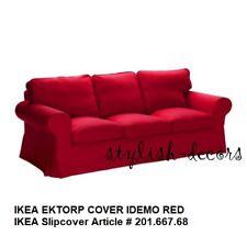 NEW IKEA RED EKTORP Sofa Cover for IKEA EKTORP Sofa - Idemo Red Slipcover