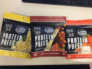 Twin Peaks Low Carb, Keto Friendly Protein Puffs 3pk variety