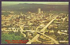 Postcard  GREENVILLE SC  Landmark Building  CHURCH Street Downtown AERIAL 1970s