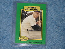 Baseball's All Time Greats Mickey Mantle from the 1980's B8532