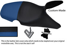 BLUE & BLACK CUSTOM 01-07 FITS BMW F 650 GS REAL DUAL LEATHER SEAT COVER