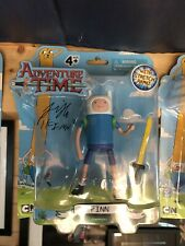 Adventure Time Finn Figura de Acción firmado por Jeremy Shada cardada Cartoon Network