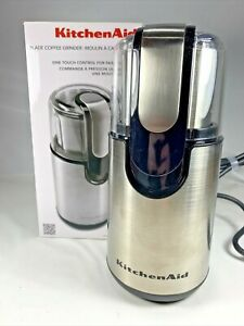 KitchenAid BCG111OB Blade Coffee Grinder 12 Cup Capacity One Touch New
