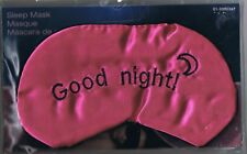 GOOD NIGHT!  -  SATIN SLEEP MASK - NEW - GREAT FOR MIGRAINE SUFFERERS