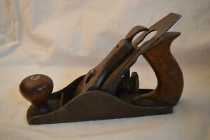 ANTIQUE STANLEY BAILEY PATENT NO 2 SMOOTHING WOOD PLANE TYPE 4 ORIGINAL 1874-188