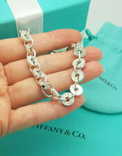 Tiffany & Co. 1837 Silver Circle Disc Link Italy Bracelet, Hallmarked, RRP £525