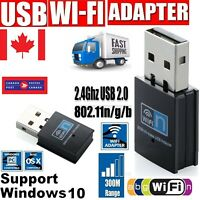 USB WiFi Adapter Wireless Network Internet Dongle 300Mbps for Linux MAC Windows