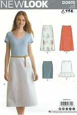 New Look 6492 Misses Skirts  8 to 20     Sewing Pattern