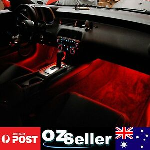 2Pcs RED LED Strip Light Footwell*Interior*DRL*Undercar Waterproof Flexible 30cm