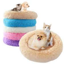 Dogs Cats Marshmallow Beds Soft Round Mats Comfy Fluffy Warming Washable Pet Bed