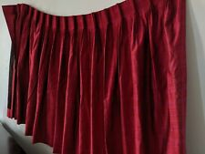 Mid Century Modern Red / Pink Stripe Curtains Drapes Set of 2 Pinch Pleat