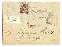 Floreale - cent 40 - viaggiato isolato  per Tarsia  nel 1905
