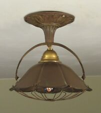 AWESOME! Restored Antique Copper Heater Steampunk Ceiling Light Fixture