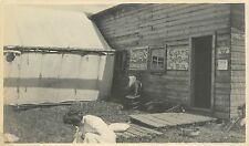 1910 Small Photo Snapshot Lunch Tent at Rackett Ridge Falls OR Willamette Valley