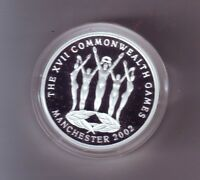 2002 $5 XV11 Commonwealth Games Manchester Silver Proof Coin