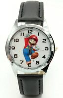 Super Mario Character Genuine Leather Band Wrist Watch