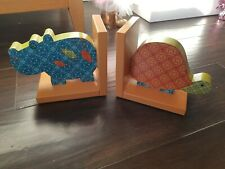 Mamas and Papas animal Wooden Book Ends