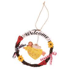 Welcome Sign,Home Decorative Door Wall Plaque,Angel Figure Hanging Ornaments
