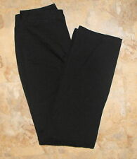 Bass BLACK Mid-rise Stretch Cotton Twill Boot-cut PANTS ~ Size 6 28x31
