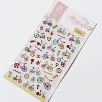 1 sheet Beautiful bike DIY paper Craft calendar diary Scrapbooking Stickers
