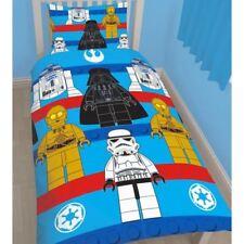 Parures et housses de couette bleus Lego en polyester