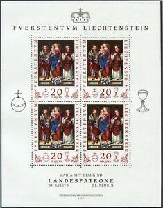 Z_2379 1997 Liechtenstein Saints Church SHEET MNH Combined payments & shipping